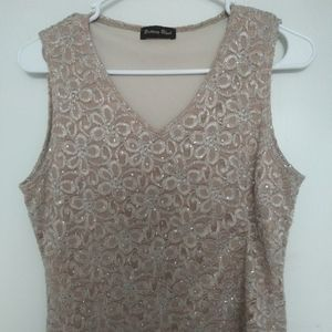 Sparkly gold sleeveless blouse